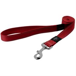 Rogz - Поводок, красный (размер XL - ширина 2,5 см, длина 1,2 м) UTILITY FIXED LEAD - фото 19683