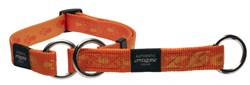 Rogz - Полуудавка строгая, оранжевый (размер XL (50-70 см), ширина 2,5 см) ALPINIST WEB HALF CHECK COLLAR - фото 19712