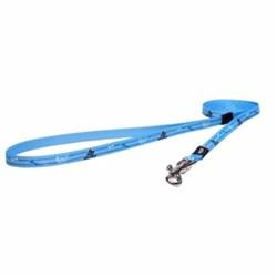 Rogz - Удлиненный поводок для щенков, голубой (размер XS - ширина 8 мм, длина 1,8 м) FIXED LONG LEAD - фото 19789