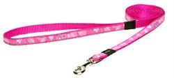 "Rogz - Удлиненный поводок ""Розовая лапка"" (размер L - ширина 2 см, длина 1,8 м) FANCY DRESS FIXED LONG LEAD - фото 19816"