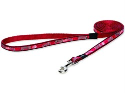 """Rogz - Удлиненный поводок """"Красные косточки"""" (размер XL - ширина 2,5 см, длина 1,8 м) FANCY DRESS FIXED LONG LEAD - фото 19826"""