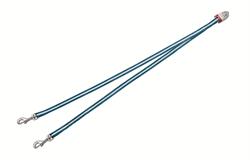 Flexi - Ремень-сворка для двух маленьких собак, размер S (голубая) Vario Duo Belt blue - фото 20033