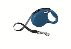 Flexi - Рулетка-ремень для собак, размер XS - 3 м до 12 кг (голубая) New Classic tape blue - фото 20043