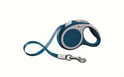 Flexi - Рулетка-ремень для собак, размер XS - 3 м до 12 кг (голубая) Vario tape blue - фото 20044