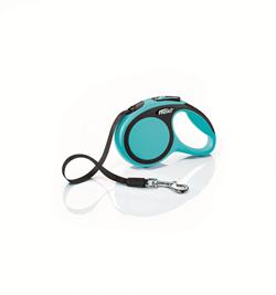 Flexi - Рулетка-ремень для собак, размер XS - 3 м до 12 кг (голубая) New Comfort Tape blue - фото 20047