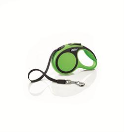 Flexi - Рулетка-ремень для собак, размер XS - 3 м до 12 кг (зеленая) New Comfort Tape green - фото 20048