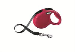 Flexi - Рулетка-ремень для собак, размер XS - 3 м до 12 кг (красная) New Classic tape red - фото 20050