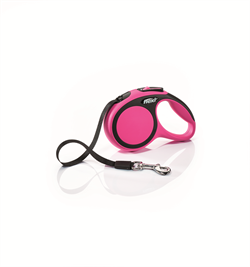 Flexi - Рулетка-ремень для собак, размер XS - 3 м до 12 кг (розовая) New Comfort Tape pink - фото 20051