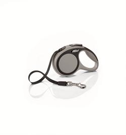 Flexi - Рулетка-ремень для собак, размер XS - 3 м до 12 кг (серая) New Comfort Tape grey - фото 20055
