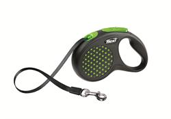 Flexi - Рулетка-ремень для собак, размер S - 5 м до 15 кг (зеленая) Design Tape green - фото 20061