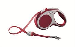Flexi - Рулетка-ремень для собак, размер S - 5 м до 15 кг (красная) Vario tape red - фото 20070