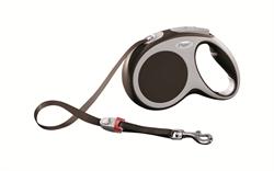 Flexi - Рулетка-ремень для собак, размер M - 5 м до 25 кг (коричневая) Vario tape brown - фото 20077