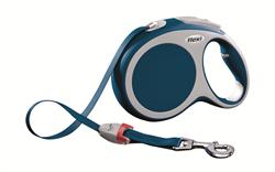 Flexi - Рулетка-ремень для собак, размер L - 8 м до 50 кг (голубая) Vario tape blue - фото 20091