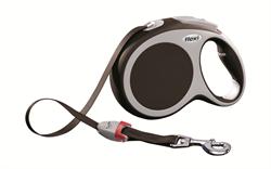 Flexi - Рулетка-ремень для собак, размер L - 8 м до 50 кг (коричневая) Vario tape brown - фото 20092