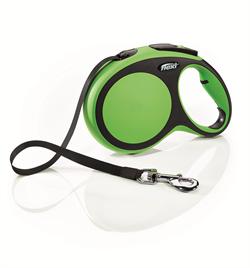 Flexi - Рулетка-ремень для собак, размер L - 8 м до 50 кг (зеленая) New Comfort Tape green - фото 20095