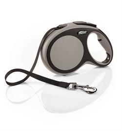 Flexi - Рулетка-ремень для собак, размер L - 8 м до 50 кг (серая) New Comfort Tape grey - фото 20097