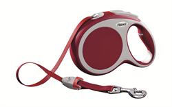 Flexi - Рулетка-ремень для собак, размер L - 8 м до 50 кг (красная) Vario tape red - фото 20098