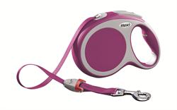 Flexi - Рулетка-ремень для собак, размер L - 8 м до 50 кг (розовая) Vario tape pink - фото 20099