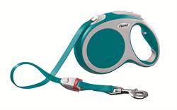 Flexi - Рулетка-ремень для собак, размер L - 5 м до 60 кг (бирюзовая) Vario tape turquoise - фото 20101