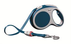 Flexi - Рулетка-ремень для собак, размер L - 5 м до 60 кг (голубая) Vario tape blue - фото 20102