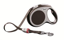 Flexi - Рулетка-ремень для собак, размер L - 5 м до 60 кг (коричневая) Vario tape brown - фото 20103