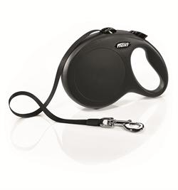 Flexi - Рулетка-ремень для собак, размер L - 8 м до 50 кг (черная) New Classic Tape black - фото 20104