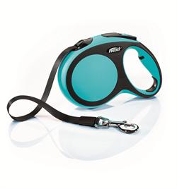 Flexi - Рулетка-ремень для собак, размер L - 5 м до 60 кг (голубая) New Comfort Tape blue - фото 20106