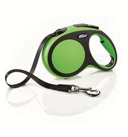 Flexi - Рулетка-ремень для собак, размер L - 5 м до 60 кг (зеленая) New Comfort Tape green - фото 20107