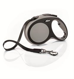 Flexi - Рулетка-ремень для собак, размер L - 5 м до 60 кг (серая) New Comfort Tape grey - фото 20110