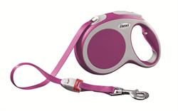 Flexi - Рулетка-ремень для собак, размер L - 5 м до 60 кг (розовая) Vario tape pink - фото 20111