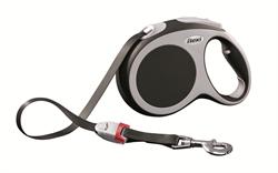 Flexi - Рулетка-ремень для собак, размер L - 5 м до 60 кг (серая) Vario tape anthracite - фото 20112
