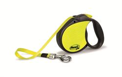 Flexi - Рулетка-ремень светоотражающая для собак, размер L (5 м до 50 кг) Neon Reflect tape - фото 20113
