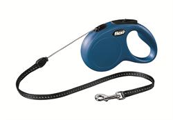 Flexi - Рулетка-трос для собак, размер S - 5 м до 12 кг (голубая) New Classic cord blue - фото 20116