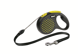Flexi - Рулетка-трос для собак, размер S - 5 м до 12 кг (желтая) Design Cord yellow - фото 20118