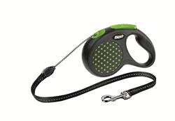 Flexi - Рулетка-трос для собак, размер S - 5 м до 12 кг (зеленая) Design Cord green - фото 20119