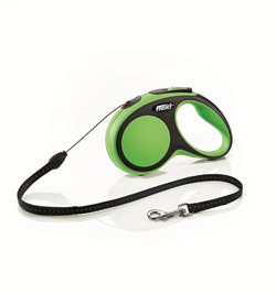 Flexi - Рулетка-трос для собак, размер S - 5 м до 12 кг (зеленая) New Comfort Cord green - фото 20123