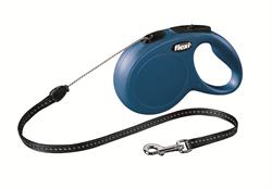 Flexi - Рулетка-трос для собак, размер S - 8 м до 12 кг (голубая) New Classic cord blue - фото 20131