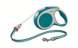 Flexi - Рулетка-трос для собак, размер S - 8 м до 12 кг (бирюзовая) Vario cord turquoise - фото 20132