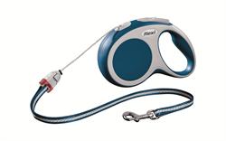 Flexi - Рулетка-трос для собак, размер S - 8 м до 12 кг (голубая) Vario cord blue - фото 20133