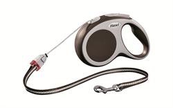 Flexi - Рулетка-трос для собак, размер S - 8 м до 12 кг (коричневая) Vario cord brown - фото 20134