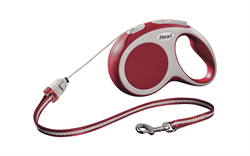 Flexi - Рулетка-трос для собак, размер S - 8 м до 12 кг (красная) Vario cord red - фото 20135
