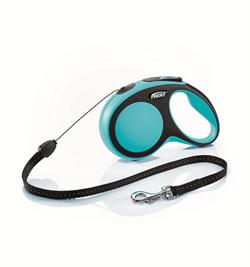 Flexi - Рулетка-трос для собак, размер S - 8 м до 12 кг (голубая) New Comfort Cord blue - фото 20136