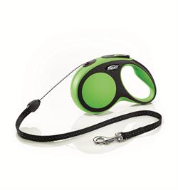 Flexi - Рулетка-трос для собак, размер S - 8 м до 12 кг (зеленая) New Comfort Cord green - фото 20137