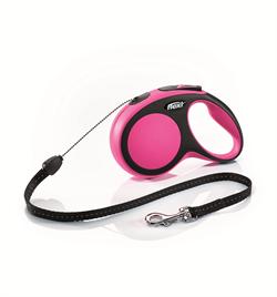 Flexi - Рулетка-трос для собак, размер S - 8 м до 12 кг (розовая) New Comfort Cord pink - фото 20139