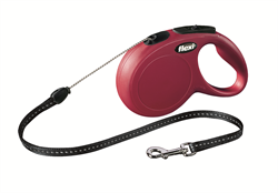 Flexi - Рулетка-трос для собак, размер S - 8 м до 12 кг (красная) New Classic cord red - фото 20141