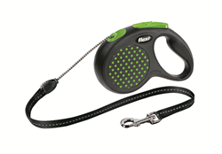 Flexi - Рулетка-трос для собак, размер M - 5 м до 20 кг (зеленая) Design Cord green - фото 20146