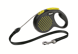Flexi - Рулетка-трос для собак, размер M - 5 м до 20 кг (желтая) Design Cord yellow - фото 20148