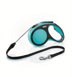 Flexi - Рулетка-трос для собак, размер M - 5 м до 20 кг (голубая) New Comfort Cord blue - фото 20150