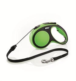 Flexi - Рулетка-трос для собак, размер M - 5 м до 20 кг (зеленая) New Comfort Cord green - фото 20151