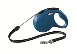 Flexi - Рулетка-трос для собак, размер M - 5 м до 20 кг (голубая) New Classic cord blue - фото 20152